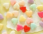 10 pcs Pastel Puffy Heart Cabochon (14mm)  IK147