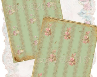 Instant Download - Tattered Papers  - 5 X 7  -  High quality Collage Sheet - Printable Download - Gift Tags - Scrapbook