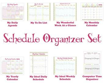 Schedule Organizer Printables - Agenda Set - Home Binder