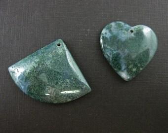 Blue and Green Nature Stone-Gemstone Beads,Semi Precious Gemstones,Jewelry Wholesale- Smooth Heart Shape -Smooth Triangle - Sku: 330000-BGN