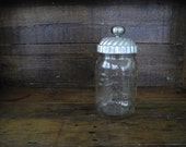 vintage tin topped Ball jar