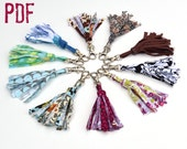 Instant download How to make Fabric Tassel Key Chains or Zipper Pulls