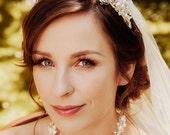 Braut Diadem Hochzeit Krone Haarteil ANITA - Verkauf