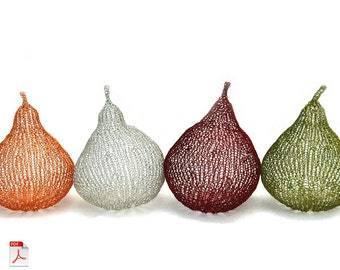 Metal wire pears in color tutorial