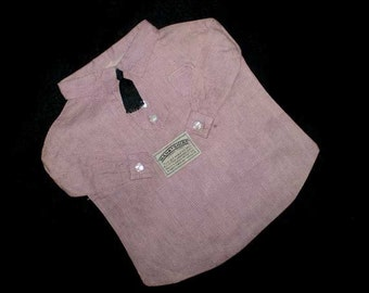 Vintage 30s Hanky Shirt Handkerchief Laundry Bag