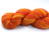 Orange You Sweet--hand dyed sock yarn, 2ply BFL and nylon, (400yds/100gm)