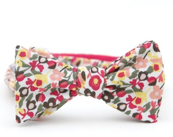 candy floral freestyle bow tie