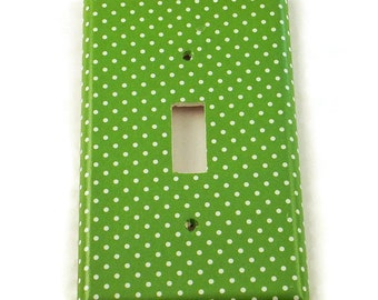Switchplates Light Switch Cover Wall Decor  Single Switch Plate in Lime Dot (243S)