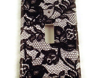 Light Switch Cover Wall Decor Switchplate Switch Plate in Midnight Lace (197S)