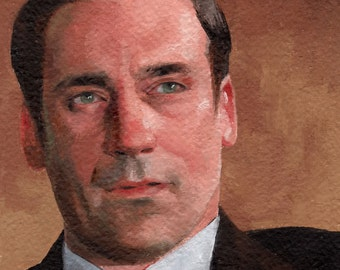 Don Draper from Mad Men - original oil painting 6x6