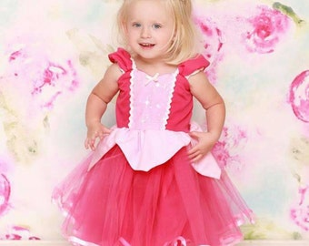 SLEEPING BEAUTY   dress  pink Princess dress with  TUTU dress  Sleeping Beauty costume
