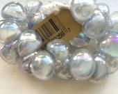 10 Luster Teardrop Handmade Lampwork Beads - Mystique Pearl 13mm (22259)