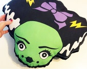 Bride of Frankenstein Cutesy Frankie's Bride Large Decorative Pillow Pocket full of Posiez