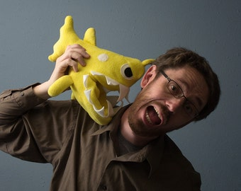 Small Angler Fish Plush - Yellow