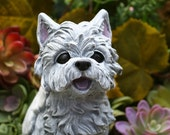 Yorkshire Terrier Angel Dog Statue, Yorkie, Silky Terrier Concrete Memorial