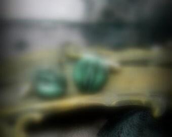 Anatomical Emerald Green Cufflinks, Black and Green, Simple Cufflinks , Vagina Vulva Jewelry, mature