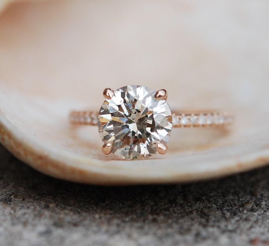 Champagne Diamond Engagement Ring 2 25ct Vs2 Champagne Diamond