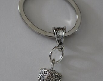 Sterling BOBCAT Key Ring - Key Chain - Animal, Cat, Wildlife, Team
