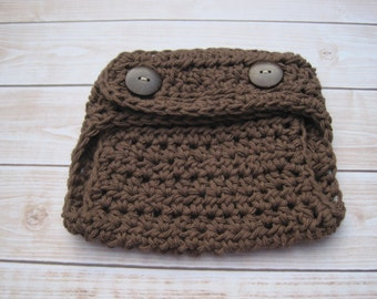 Crochet Baby Diaper Cover, Baby Boy Diaper Cover, Newborn Diaper Cover, Infant Diaper Cover, Baby Girl Diaper Cover, Baby Photo Prop, Brown
