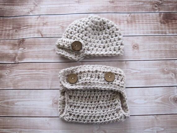 Baby Hat, Newborn Hat, Infant Hat, Baby Newsboy Hat, Baby Diaper Cover Set, Baby Boy Hat, Newborn Girl Hat, Baby Beanie, Baby Photo Prop