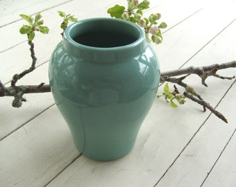 Vintage Turquoise Pottery Vase