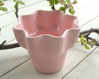 Vintage Imperial Pink Pot Vase USA Pottery