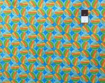 George Mendoza PWGM016 Inspiration Whimsy Green Cotton Fabric 1 Yd