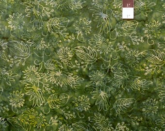 Clothworks Fresh Batiks Botanica 2 FB018-113 Forest Cotton Fabric By The Yard