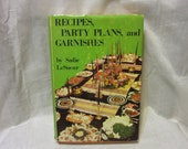 1970 Copy of Sadie LeSeur's Recipes, Party Plans, and Garnishes