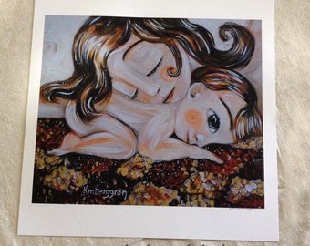 Absorb, Archival 12x12 signed motherhood cosleeping print