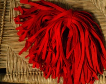 94 Mill Dyed Wool Rug Hooking Strips   Cardinal Red