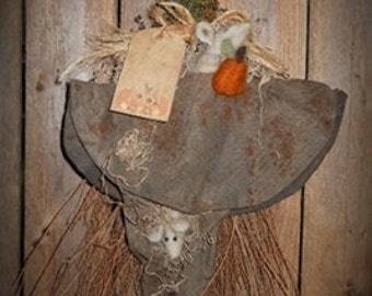 Witch Hat on Broom