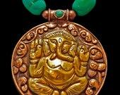 Handsome Nepali Lord Ganesha Amulet & Turquoise