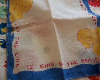 leo the lion tiny hanky
