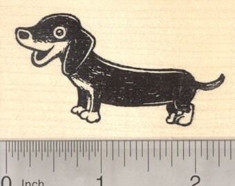 Dachshund Rubber Stamp, Wiener Dog H27510 Wood Mounted