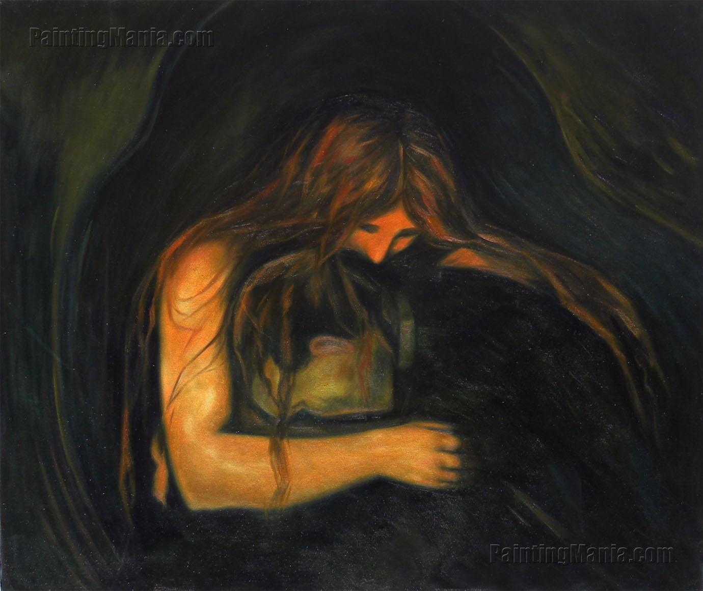 Vampire II, 1895 - 1902 - Edvard Munch - WikiArt.org   Vampire Edvard Munch