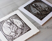 Wild Hare-Original Artwork-Limited Edition-Hand Printed-Linocut-Rabbit-signed and numbered