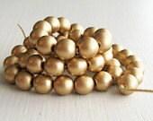 50 Matte Gold 6mm Rounds - Czech Glass Beads