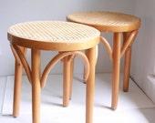Vintage cane stools thonet style mint condition