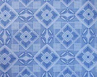Light Blue Geometric Cotton Fat Quarter