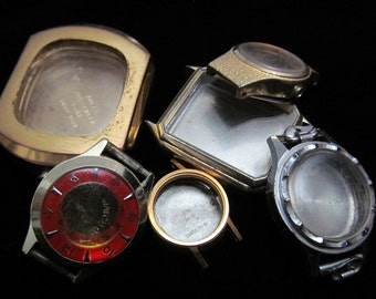 Vintage Antique Steampunk Watch Cases Altered Art Industrial TV 73