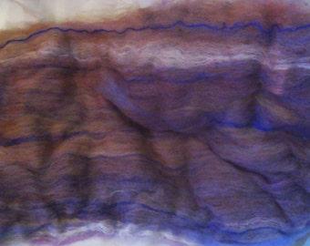 Alpaca Wool Corn Silk Sari Silk Thread Batt Spinning Fiber Rusty Brown 4.2 ounces B010