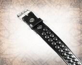 Dome Stud Belt - Black - Studded Leather Belt, Black Leather Belt, Leather Belt, Mens Leather Belt, Women's Leather Belt, Belt