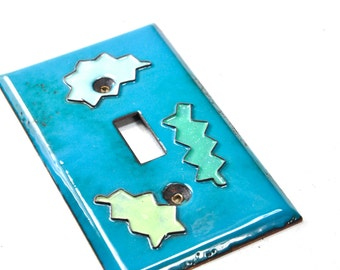 Free Shipping! Ready to Ship! Paints splats, POP ART Handmade Enameled Light Switch Plate Cover Industrial Pop Art