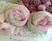 Cotton Cheesecloth  - Altered Art Supplies - Backdrop - Photography - Shabby Pink - Country Cottage Pink & Eggshell Cheese Cloth -