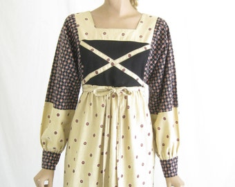 Vintage 70s Boho Folk Dress