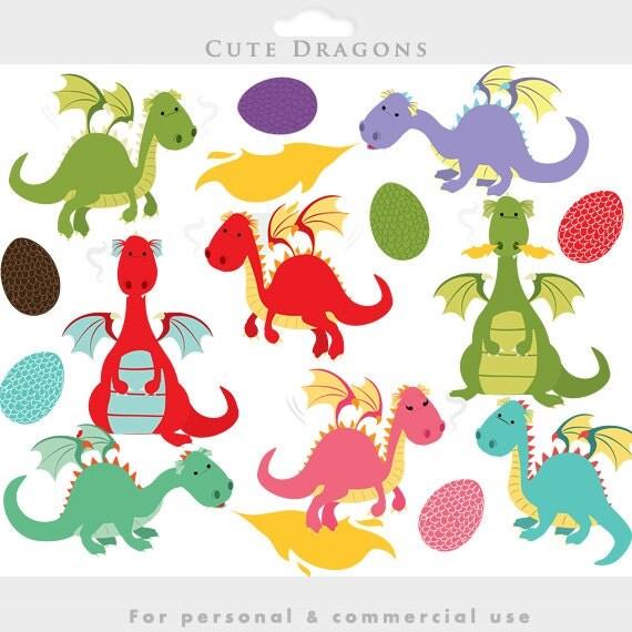 Arten Von Drachen Clipart Intelligente Kunst Für Kinder