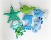 Under the Sea Garland  starfish, sea horse, narwhal, dolphin, fish, jellyfish