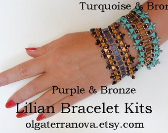 Lilian Bracelet. Beaded Kit