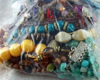 DESTASH Lot of Jewelry for Crafting or Salvage - Great Beads - FREE Shipping